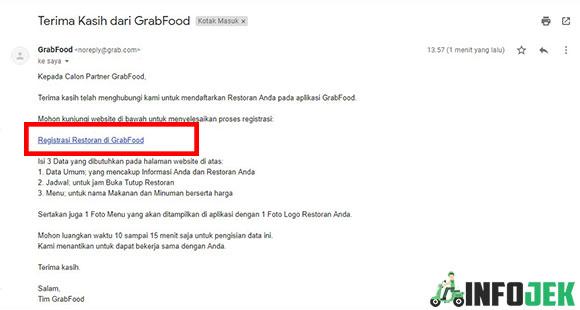 Cek Email Masuk Anda Dan Klik Registrasi