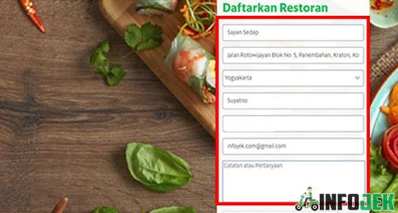 Isi Formulir Pendaftaran Restoran