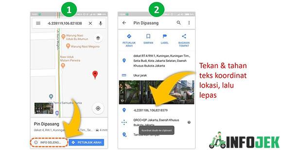 Mencari Koordinat Restoran Dari Aplikasi Google Maps