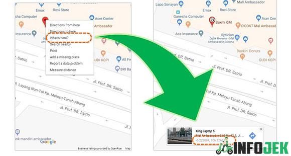 Mencari Koordinat Restoran Dari Browser Komputer