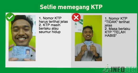 Upload Selfie Memegang KTP