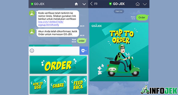 Cara Pesan Gojek Tanpa Aplikasi Via Line
