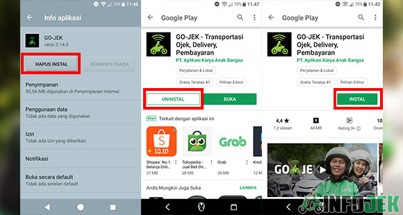 Install Ulang Aplikasi Gojek
