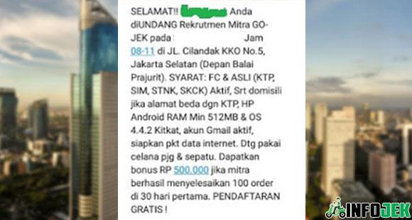 SMS Balasan Gojek