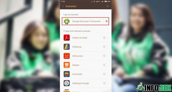 Autostart Google Services Framework