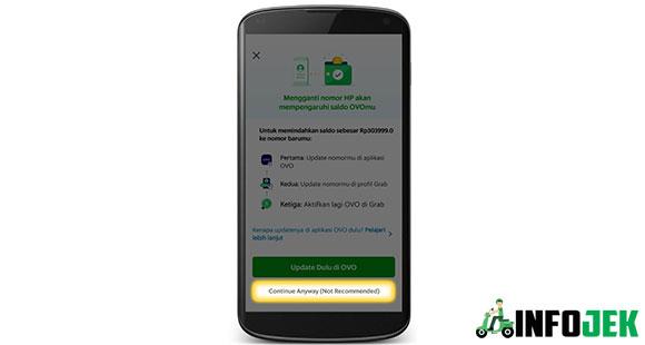 Jika anda sudah mengganti nomor Hp di Aplikasi OVO anda, maka anda tinggal pilih