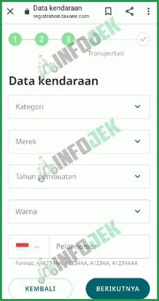 10 Input Data Kendaraan