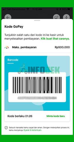 Tampilan QR Code GoPay