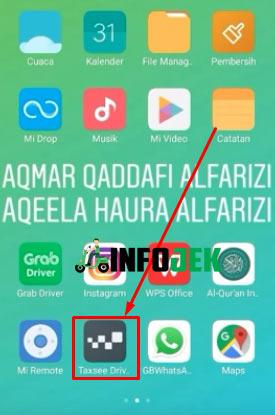1. Buka Aplikasi Taxsee Driver