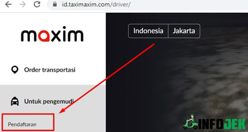 1. Buka Website Maxim
