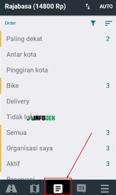 2. Pilih Menu Order