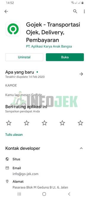 Aplikasi GoJek Terbaru