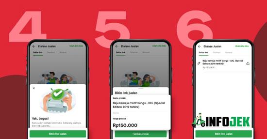 Pada menu GoShop kamu pilih Bikin Link lalu buat Etalase Jualan