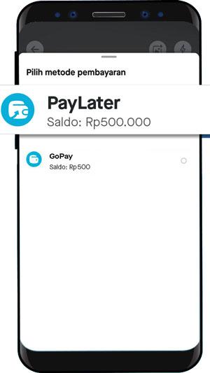 Piliih Pembayaran PayLater