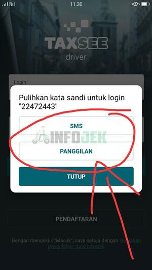 SMS atau Telepon