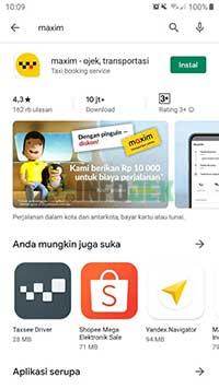 install aplikasi Maxim
