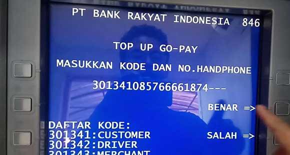 Cara Bayar Gojek Via ATM