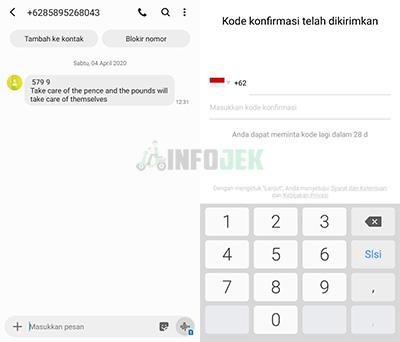 SMS OTP inDriver