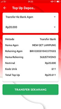 Transfer Ke Bank Agen