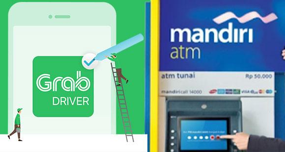 Cara Isi Grab Driver di ATM Mandiri