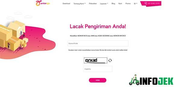 Cara Cek Resi Anteraja Online via Website