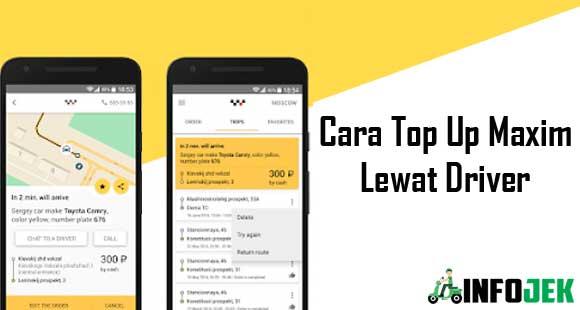 Cara Top Up Maxim Lewat Driver