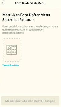 unggah foto lampiran daftar menu