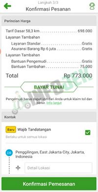 Tarif Deliveree