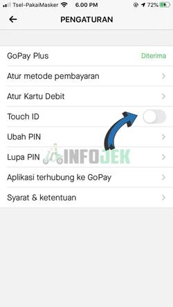 Aktifkan Touch ID