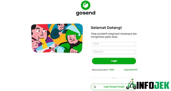 Buka Situs Pendaftarn GoSend Web Portal