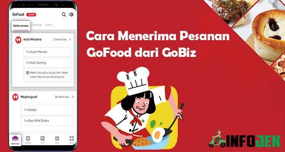 Cara Menerima Orderan GoFood dari GoBiz