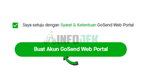 Klik Buat Akun GoSend Web Portal