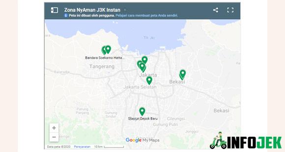 Lokasi Titik Jemput Gocar Instan