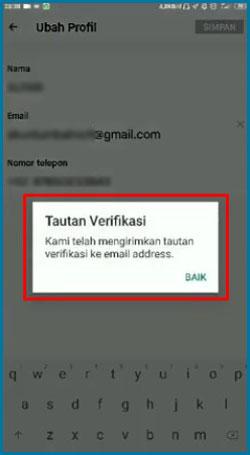 Notifikasi Pengiriman Verifikasi Email