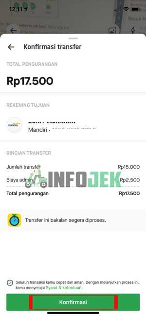 Rincian Biaya Transfer