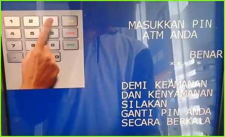 1 Masukan PIN ATM