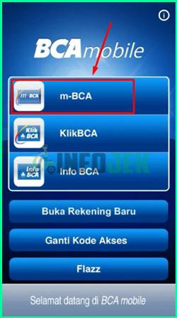 2 Pilih Menu m BCA