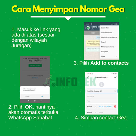 3 Simpan Nomor WhatsApp Admin Klub Juragan