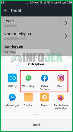 5 Bagikan Infomrasi Lewat WhatsApp Instagram Twitter atau Facebook
