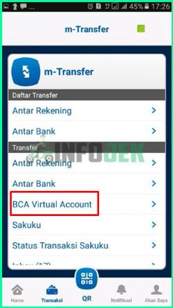 5 Pilih Menu BCA Virtual Account