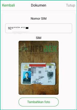 9 Masukan Nomor SIM dan Upload Foto SIM
