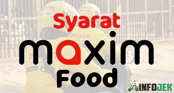 Syarat Daftar Maxim Food
