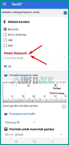 3 Pilih Printer Bluetooth