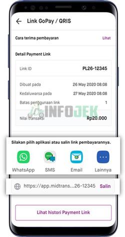 4 Bagikan Payment Link Lewat WA atau Lainnya