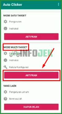 4 Klik Aktifkan di Mode Multi Target