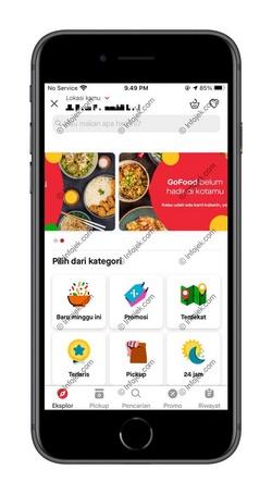 Buka Gojek dan Pilih Gofood