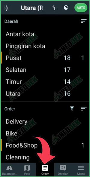 2 Pilih Menu Tab Order