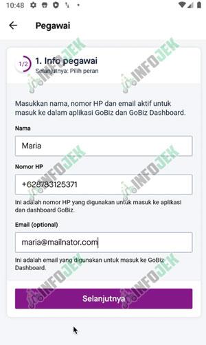 Masukan Data Pegawai Gobiz