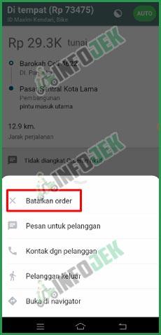 Pilih Batalkan Order