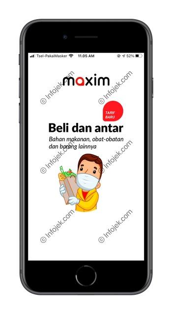 1 Buka Aplikasi Maxim Customer
